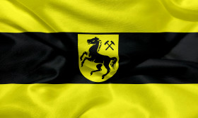 Stock Image: Flag of the city of Herne