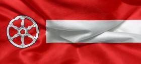 Stock Image: Flag of the german city of Erfurt