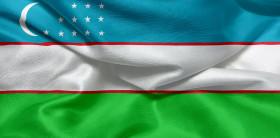 Stock Image: Flag of Uzbekistan