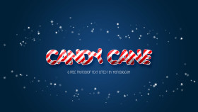 Stock Image: Free Candy Cane Photoshop Text Effect