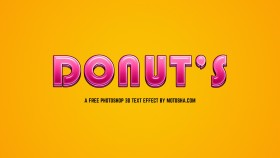 Stock Image: Free Photoshop Candy Donut Text Effect