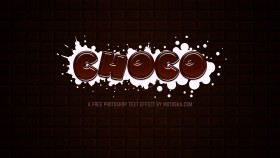 Stock Image: Free Photoshop Chocolate Text Effect