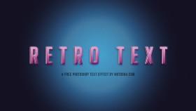 Stock Image: Free Photoshop Retro Text Effect