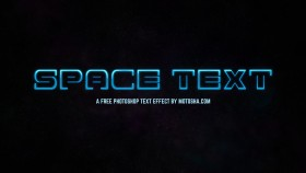 Stock Image: Free Photoshop SciFi Space Text Effect