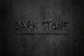 Stock Image: Free Photoshop Text Effect: Dark Stone
