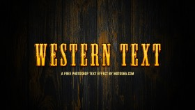 Stock Image: Free Photoshop Western Text Effect