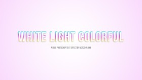 Stock Image: Free Photoshop White Light Colorful Text Effect