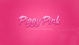 Stock Image: Free Piggy Pink Text Effect for Photoshop