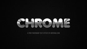 Stock Image: Free PSD Chrome Text Effect