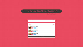 Stock Image: Free Simple Ajax Search Form PSD