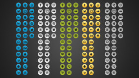 Stock Image: Free Simple Social Media Photoshop Icons