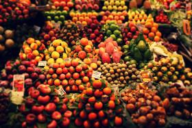 Stock Image: fruit market barcelona