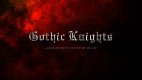 Stock Image: Gothic Knights Free PSD Text Effect
