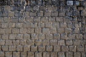 Stock Image: Gray stone wall texture