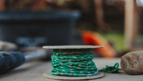 Stock Image: Green cord spool