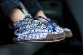 Stock Image: homemade children's shoes