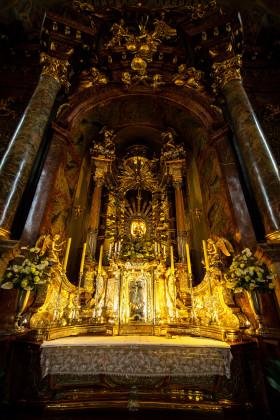 Stock Image: Imposing altar Maria Taferl