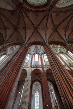 Stock Image: Interior of the Lübecker Marienkirche
