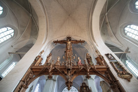 Stock Image: Jesus Cross in a Cathedral by Lübeck