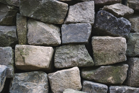 Stock Image: loose stacked stones