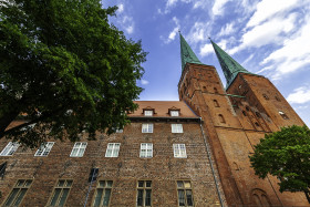 Stock Image: lubeck cathedral in the year 2019