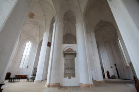 Stock Image: Lübeck White Cathedral Interior