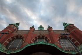 Stock Image: Mainstation Building in Lübeck