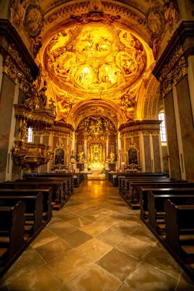 Stock Image: Maria Taferl Church Interior