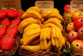 Stock Image: marzipan bananas and strawberries