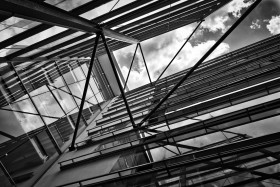 Stock Image: modern building with glass facade