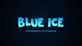 Stock Image: Blue Ice Text Effect for Photoshop