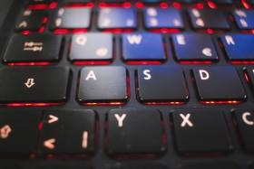 Stock Image: notebook keyboard