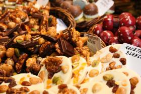 Stock Image: nut chocolates