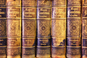 Stock Image: Old books background texture
