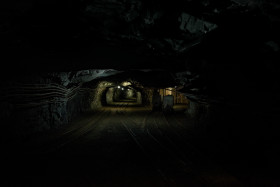 Stock Image: old dark mine