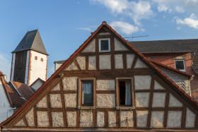 Stock Image: old german timbered house in gelnhausen