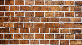 Stock Image: old red brick wall background texture
