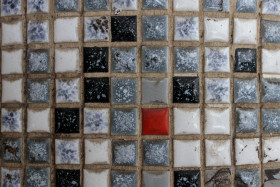 Stock Image: Old Tiny Tile Texture