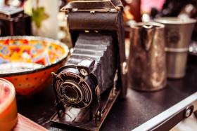 Stock Image: Old vintage camera