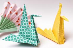 Stock Image: origami swan