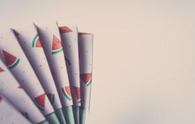 Stock Image: paper fan origami