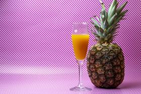 Stock Image: Pineapple juice