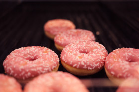 Stock Image: Pink Donuts