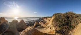 Stock Image: Praia de Manuel Lourenco Seascape Panorama in Portugal