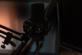 Stock Image: Professional streaming microphone