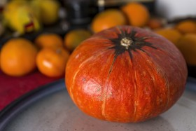 Stock Image: pumpkin in the kitchen