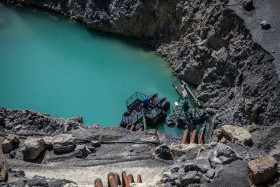 Stock Image: Pumps in a quarry
