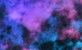 Stock Image: purple universe galaxy background