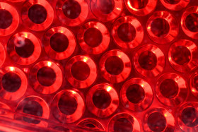 Stock Image: Red abstract circle background