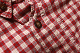 Stock Image: Red and white checked shirt for children